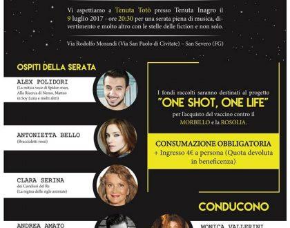 """""""Uniti con le Stelle"""" : Cena benefica """"ONE SHOT , ONE LIFE """""""